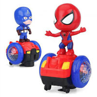 Spiderman Doll Electric Balance Scooter Car Bike Stunt Car with LED Lights Music
