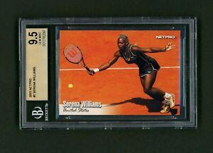 2003 NetPro Serena Williams #1 Base Rookie BGS 9.5 Gem 🎾 Nadal Federer Bonus 🎾