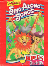 WALT DISNEY SING ALONG SONGS THE LION KING CIRCLE OF LIFE PRESS KIT WITH PHOTO