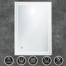 BAD-SPIEGEL LED Beschlagfrei 50x70 cm Kaltweiß mit Touch 2 LED-Streifen