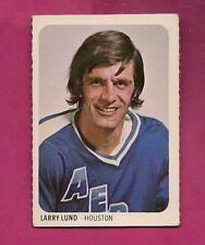 RARE 1973-74 WHA QUAKER OATES AEROS LARRY LUND  MINI CARD (INV#3769)