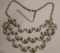 Beautiful Vintage Gold Plated Chunky Costume Necklace