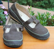 Green Toe Simple size 11 Brown Canvas Mary Jane Slip on Womens Shoes Casual