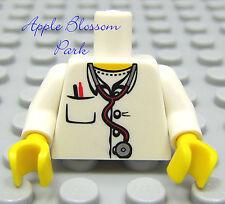 NEW Lego Minifig Hospital MEDIC TORSO -Female Doctor Nurse White Lab Coat Jacket