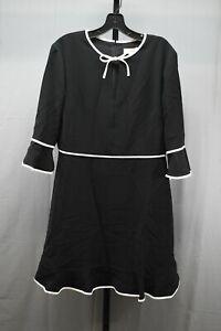 Ted Baker Dindy Woven Skater Dress w/Bow Binding, Women's UK 5 (US 12), Black