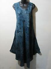 Dress Fits 1X 2X 3X 4X Plus Sundress Gray Cotton Tie Dye A Shaped NWT G801