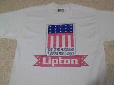 THE STAR SPANGLED BANNER MONUMENT LIPTON VINTAGE 1991 T-SHIRT-MED NWOT