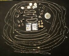 Scrap Sterling .925 Silver and Gold Karat Lot~Reuse Repair~Penny Start Auction!!