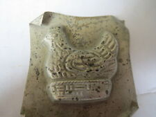 """Vintage SMALL JELLY BUTTER Mold NESTED HEN Great Detail HARD TO FIND 2"""" Square"""