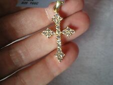 White Topaz Cross pendant, 1.87 carats, in 3.69 grams of 925 Sterling Silver