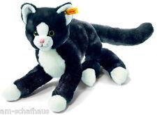 Steiff Katze Mimmi 30cm schwarz/weiss liegend Kuscheltier Geschenk Neu 099366