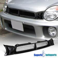 For 2002-2003 Subaru Impreza Front Mesh Grill ABS Hood Grille Black WRX STi