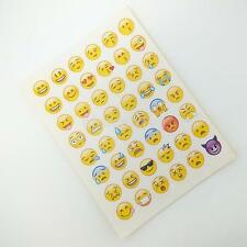 48 Emoji Smiley Face Stickers Children Card Making Decoration Labels for Kids CA