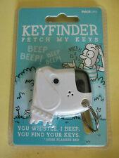 KEYFINDER FETCH MY KEYS DOG SHAPED KEY CHAIN RING SUCK UK LTD. NEW IN PACKAGE