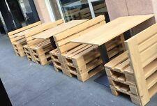 Tavolo in ferro e legno 180x80 per Pallet Bancali EUR  EPAL arredamento NUOVO