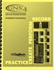 Digitech GNX4 Guitar Workstation OWNER'S MANUAL
