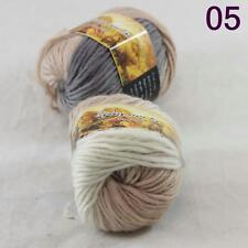 Sale Lot of 2 Skeins New Knitting Yarn Chunky Colorful Hand Wool Wrap Scarves 05