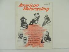 Vintage Oct 1959 AMERICAN MOTORCYCLING Magazine Carroll Resweber Jawa AMA L3803