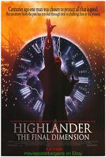 HIGHLANDER 3 MOVIE POSTER Original Rolled 27x41 CHRISTOPHER LAMBERT 1994