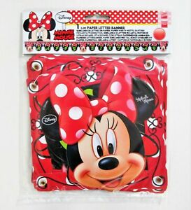 Minnie Mouse Fashion Happy Birthday Jointed Banner - Disney Party Decorations