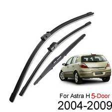 Front Rear Windscreen Wiper Blades For Opel Vauxhall Astra V H 5-Dr Hatch Estate
