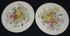 Johnson Bros. England Windsor Ware Garden Bouquet 2 Breakfast Plates