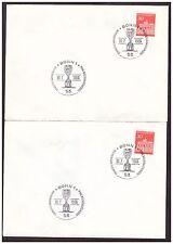 Bund 2 Briefe Sst. Deutschland Fußball-Vizeweltmeister 1966 -862