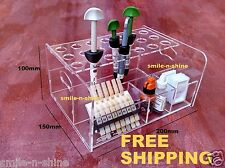 Dental Cement Stand Adhesive Resin Syringe Organizer Holder Case Acrylic