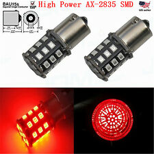 JDM ASTAR 2xBrilliant Red 1156PY BAU15S 7507 33-SMD AX-2835 Turn Signal LED Bulb