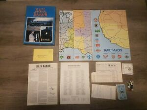 Rail Baron: Game of Building Railroad Empires, Avalon Hill, strategy boardgame