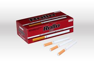 600 MICRO SLIM RED EMPTY ROLLO TUBE Cigarrette Tobbacco Filter Ventti