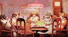 C.M. Coolidge A Friend in Need Dogs Playing Poker Tin Sign