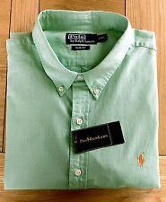 BNWT Polo Ralph Lauren Slim fit Sorbetto In Chambray Camicia Verde