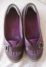 Lands End Tailored Terrain Ballet Shoe Slip On 380873 Brown & Maroon Women 10B