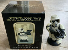 More details for star wars gentle giant biker scout mini bust