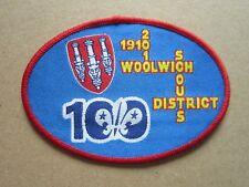 Woolwich Centenary 100 Cloth Patch Badge Boy Scouts Scouting L6K