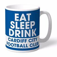 Personalised Cardiff City Football Club FC Eat Sleep Drink Mug Gift