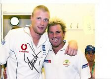 SHANE WARNE HAND SIGNED 10 X 8 INCH COLOUR PHOTOGRAPH