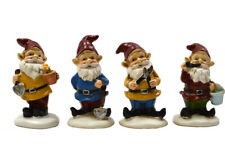 Miniature Dollhouse FAIRY GARDEN - Gardening Gnomes - Set of 4 - Accessories