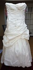 En Vogue Bridal Wedding Dress Style LT215 Size 16 Ivory White Silver Beads NEW