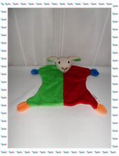 ♠ - Grand Doudou Plat Chien Mouton Vert Rouge Bleu  Grelot Best Price London