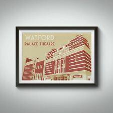 More details for watford palace theatre travel poster - framed - vintage - bucket list prints