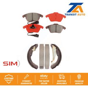 Front Rear Semi-Matllic Brake Pad And Drum Shoes Kit 2011-2012 Volkswagen Jetta