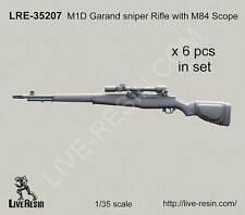 Live Resin 35207 1/35 M1D Garand Sniper Rifle with M84 Scope