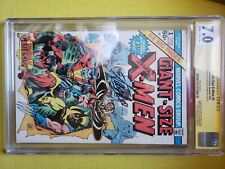 Giant size x 1 cgc 7 signature series Stan Lee and Len Wein.Signed and graded