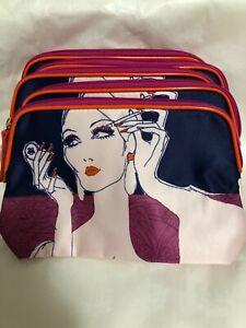 Lot of 5 Estee Lauder Cosmetic Makeup Bag