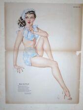 1945 Varga Girl Original Esquire Gatefold - Mum's the Word- Scarce