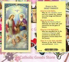 Prayer to the Holy Trinity  - Laminated Holy Card