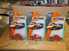 3 2018 MATCHBOX  1970 DATSUN 510 RALLY (ORANGE)  #94/125  FREE SHIP