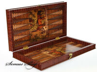 Super Luxus Porch Backgammon TAVLA XXL Atli Tavla